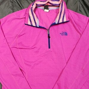 Womens Magenta Pink Pull Over The North Face
